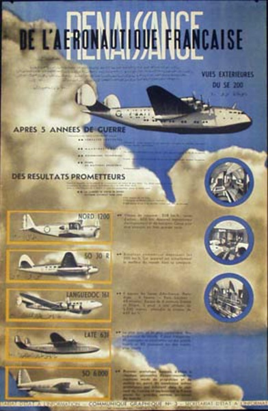 Original French Aeronautic Engineering Poster