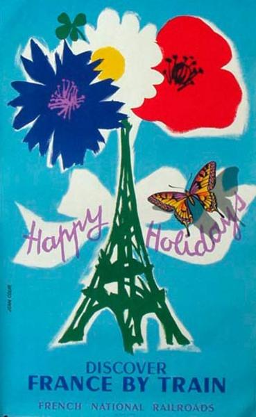 France Original Vintage Travel Poster Jean Colin