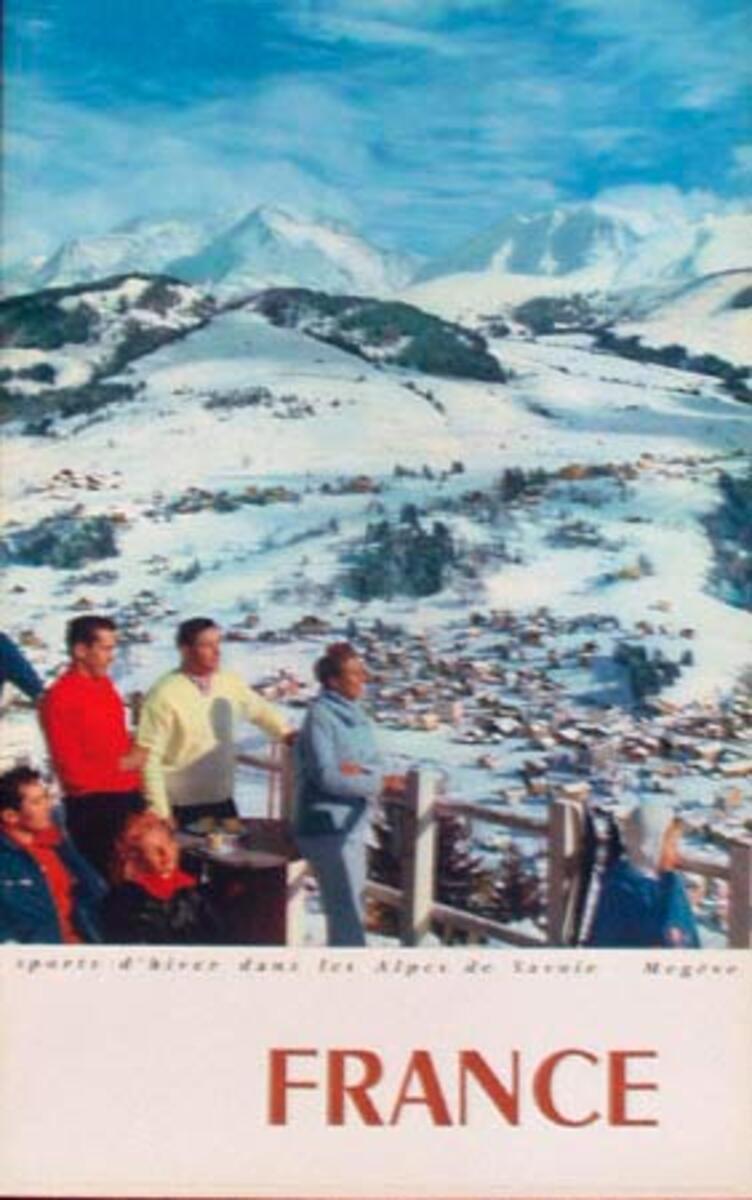 Megeve France Winter Sports Original Ski Travel Poster