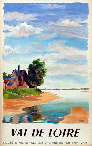 France Original Vintage Travel Poster Val de Loire