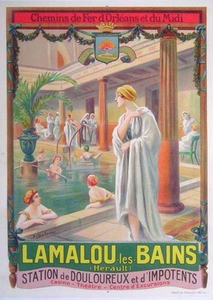 Lamalou les Bains Original French Travel Poster