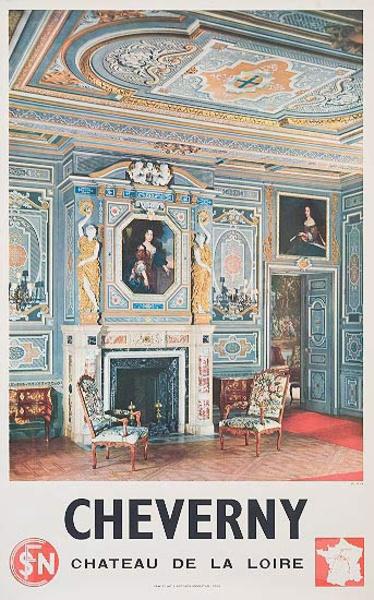Cheverny Original French Travel Poster