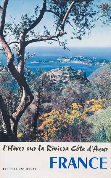 l'Hiver sur la Riviera Winter in the Riviera Original French Travel Poster
