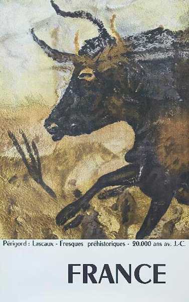 Perigord Cave Paintings Original French Travel Poster