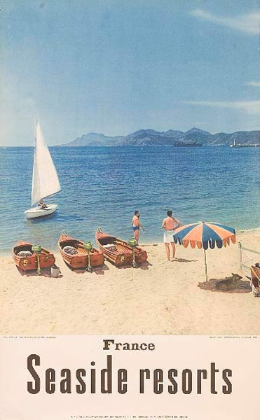 Seaside Resorts France Original French Travel Poster
