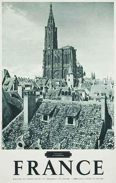 French Travel Poster Chateaux Strasbourg photo