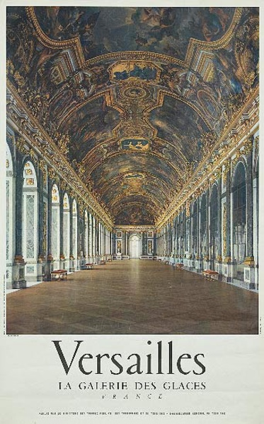 French Travel Poster Chateaux Versailles photo