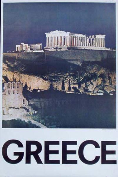 Acropolis Original Vintage Travel Poster