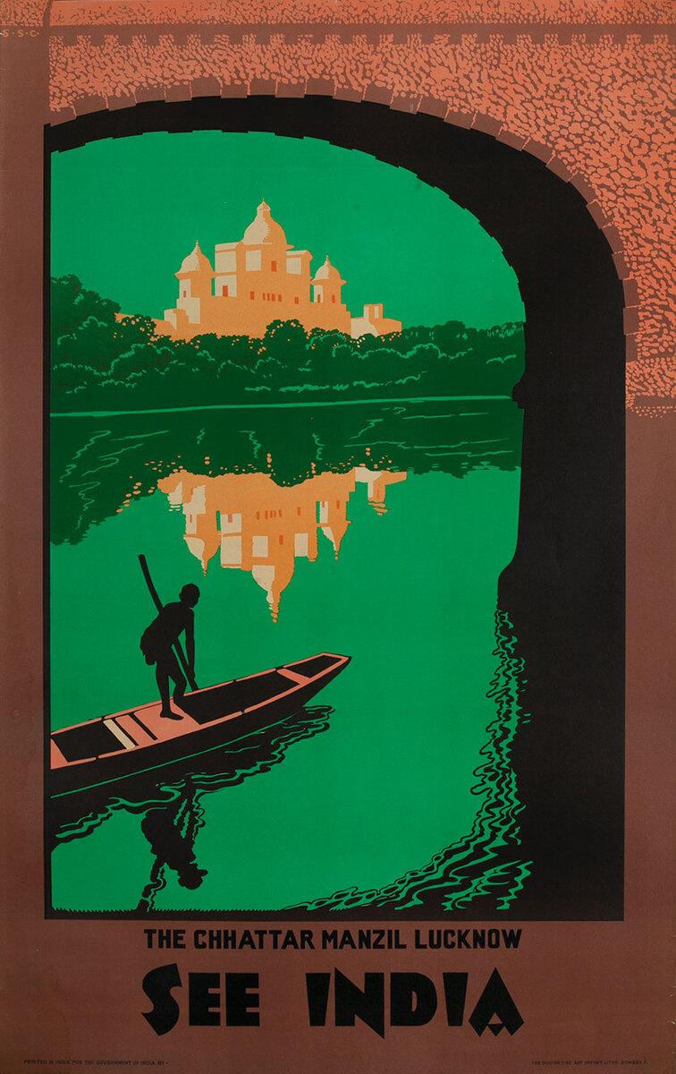 See India,  Chhattar, Manzil, Lucknow Original Travel Poster