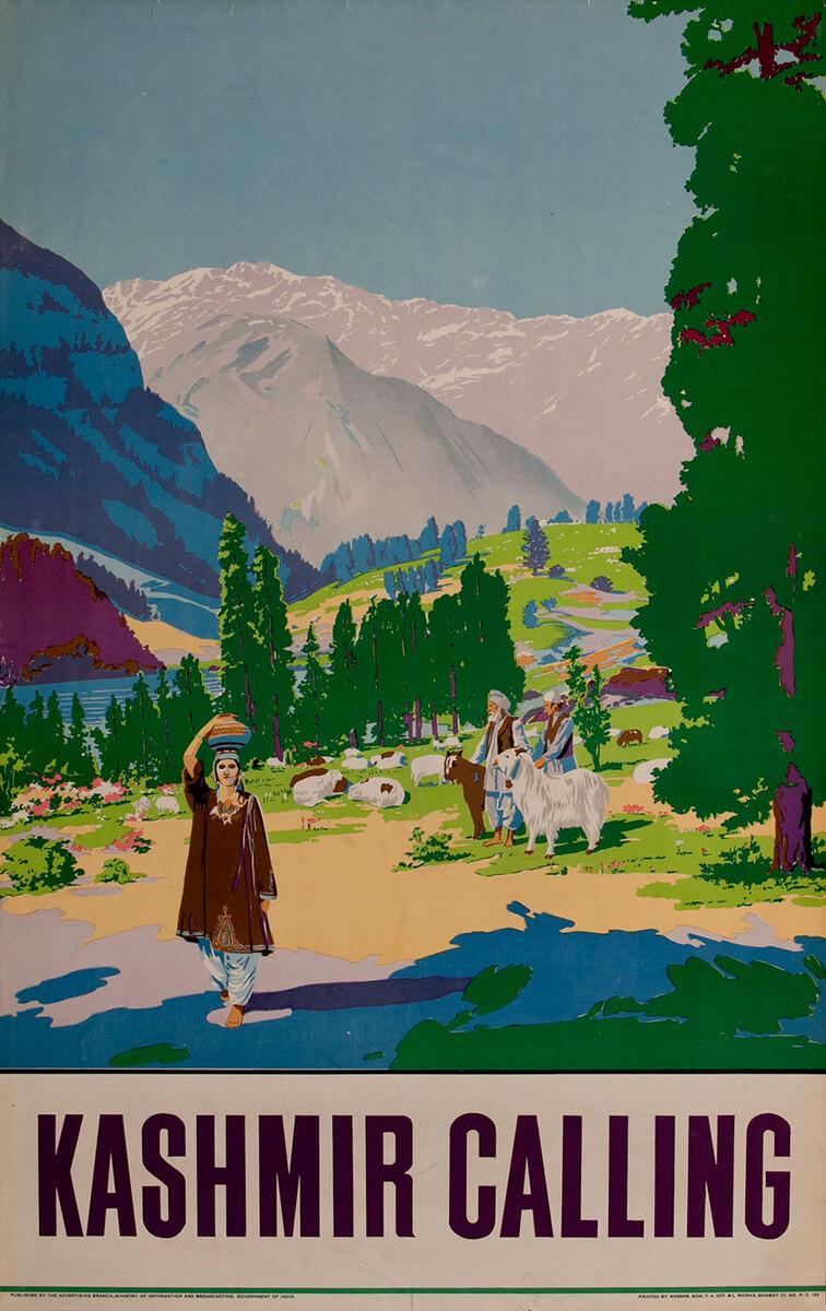 Kashmir Calling  India Travel Poster