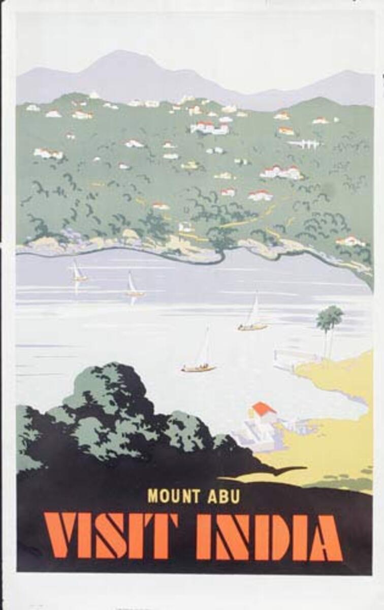 Mount Abu India Original Vintage Travel Poster