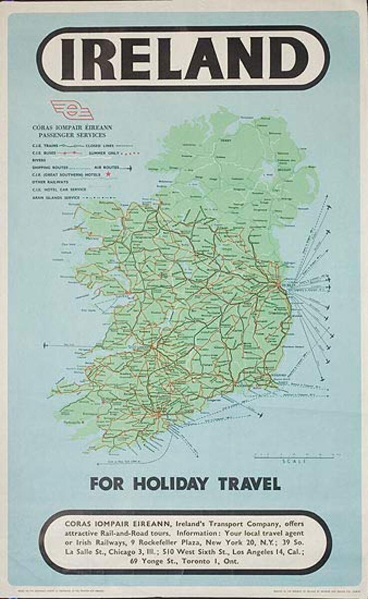 Ireland For Holiday Travel Original Irish Travel Poster