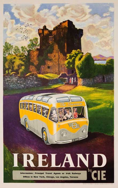 Ireland by CIE Shannon Bus Original Irish Travel Poster