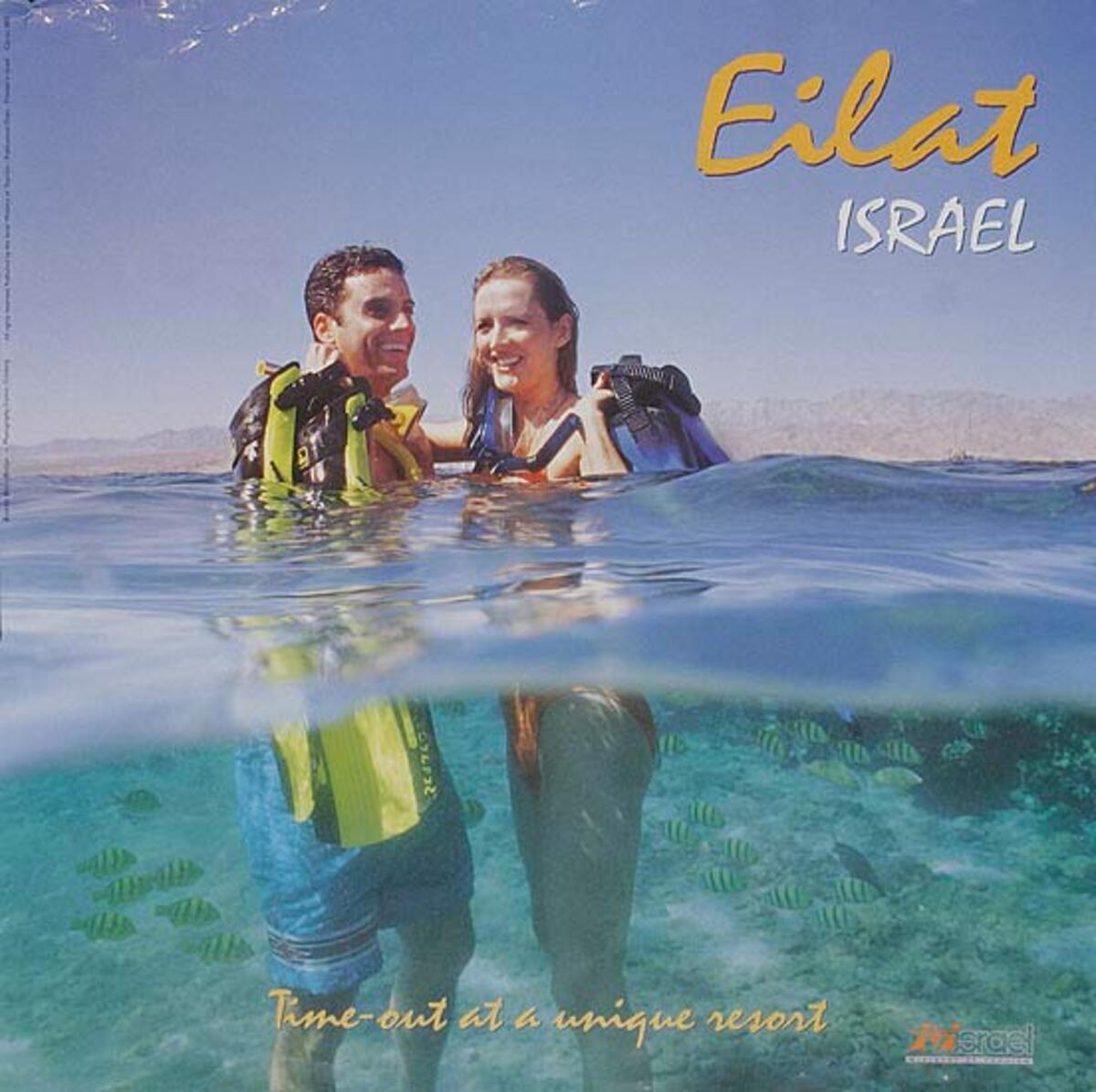 Eilat Original Israel Travel Poster