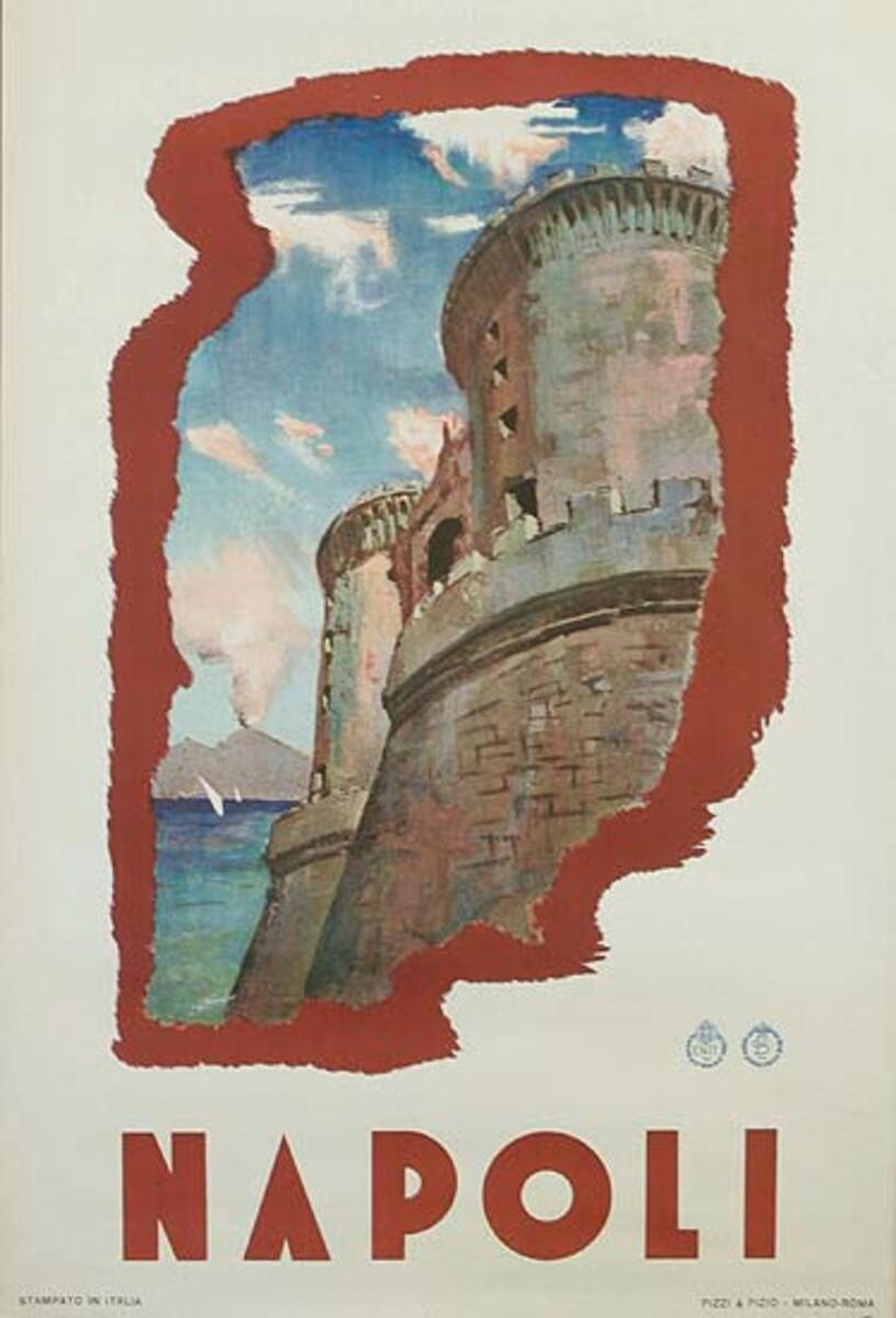 ENIT Napoli Italy Original Vintage Travel Poster