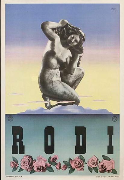Rodi Italy Original ENIT Travel Poster