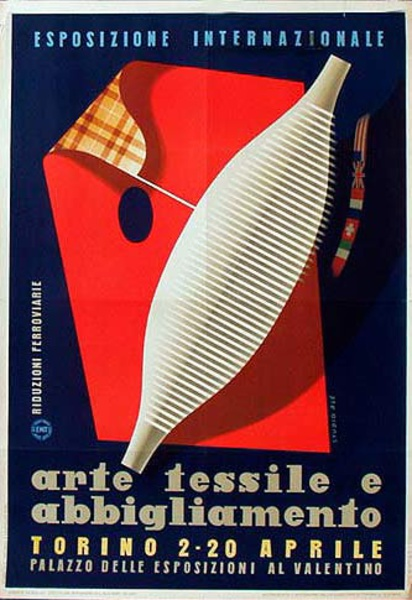 Textile and Apparel Expo Italy Original Vintage Travel Poster