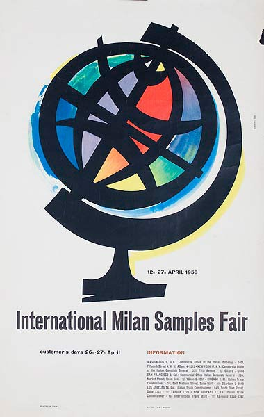 International Milan Sample Fair Original Italian Trade Show Poster