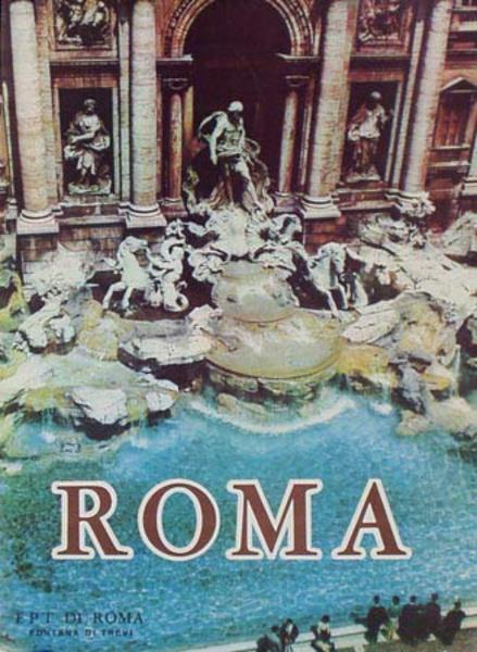 Rome Trevi Fountain Original Italian Travel Poster