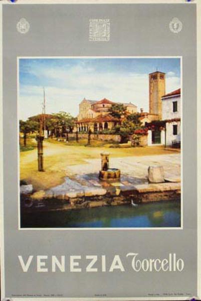 Venice Original Italian Travel Poster Torcello