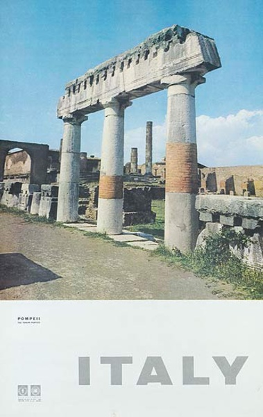 Pompeii Original Italian Travel Poster photo