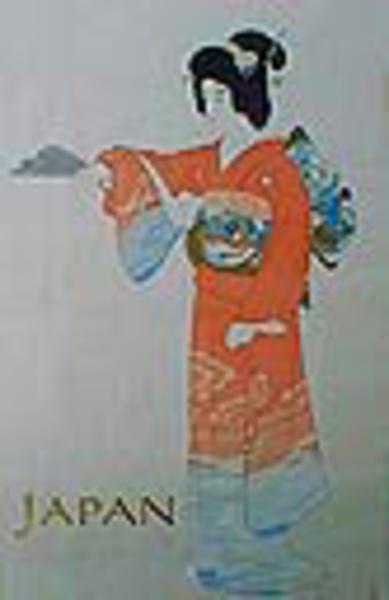 Japan Original Vintage Travel Poster Geisha