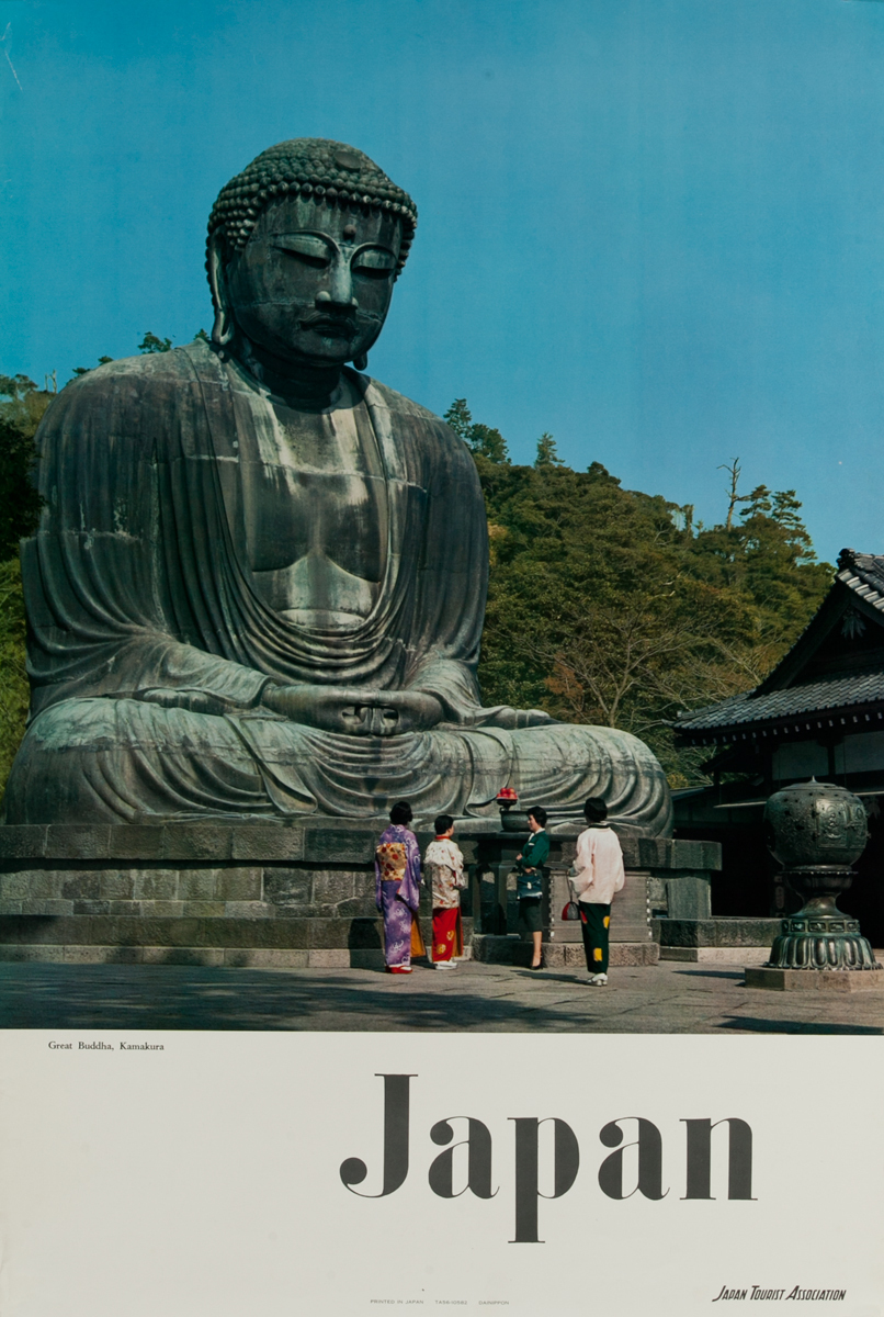 Japan Original Travel Poster Kamakura Budda