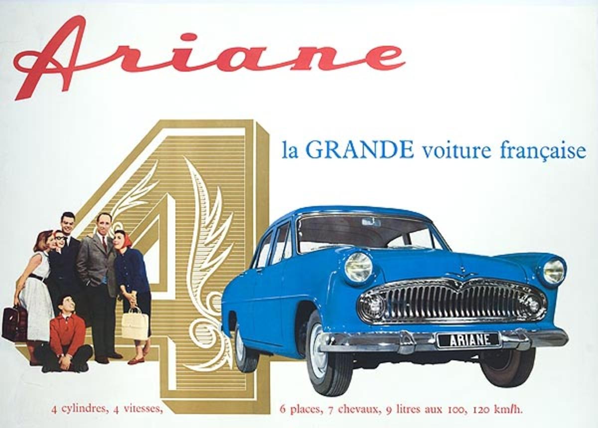 Ariane 4 Original French Advertising Poster