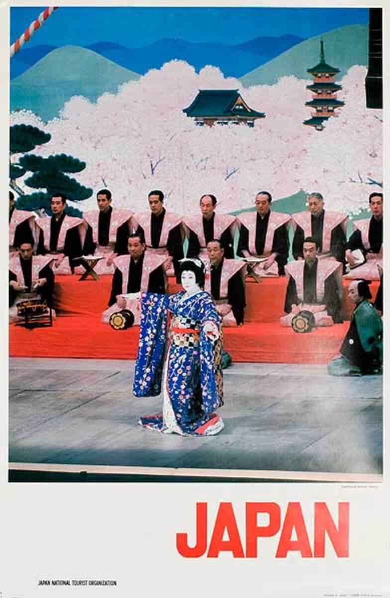 Japan Kubuki Original Travel Poster