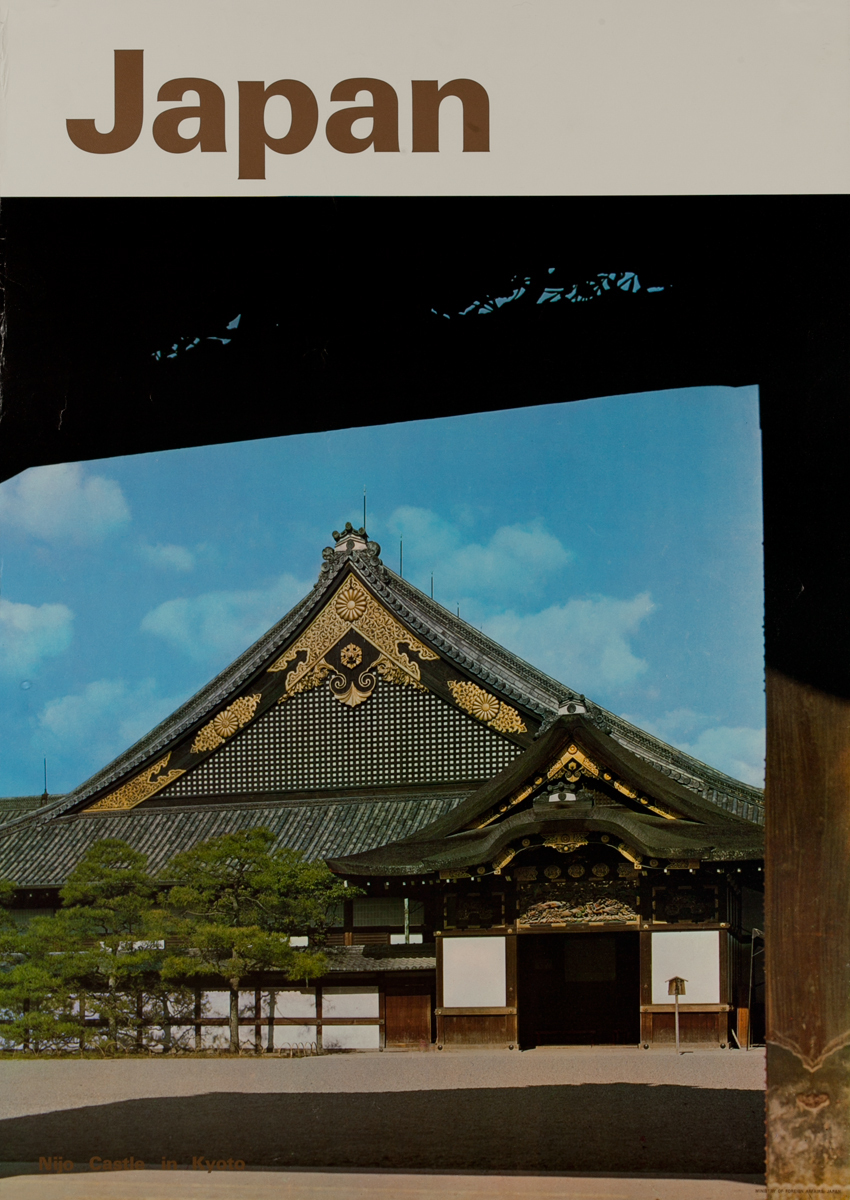 Japan Nija Castle In Kyoto Original Travel Poster