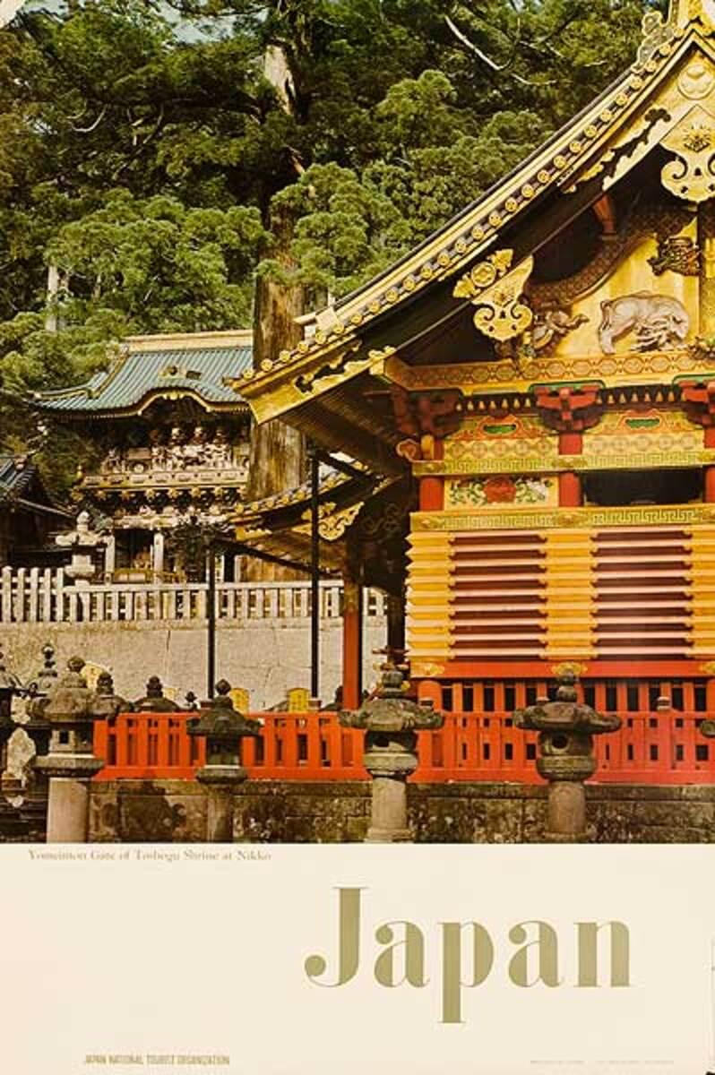 Yomeimon Gate Nikko Original Japanese Travel Poster