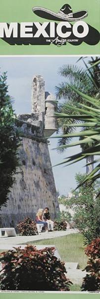 Mexico The Amigo Country Travel poster fort