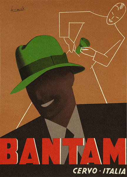 Original Vintage Bantam Hat Advertising Poster