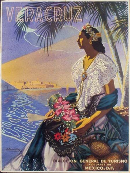 Vera Cruz Mexico Original Vintage Travel Poster