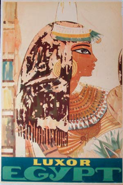 Original Vintage Egypt Travel Poster Luxor