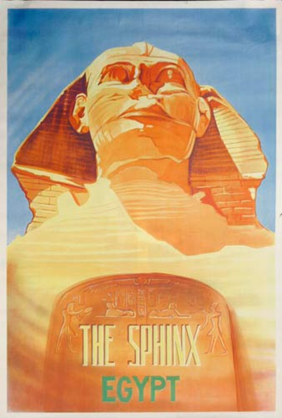 Egypt Sphynx Original Travel Poster