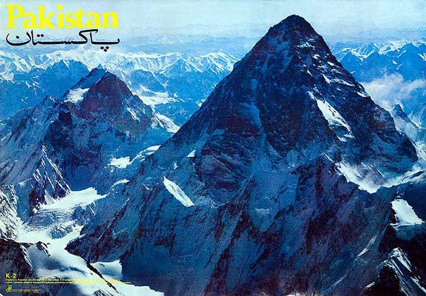 Pakistan K2 Original Travel Board Tourism Poster
