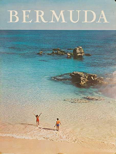 Bermuda Travel Poster Couple on Beach Photo
