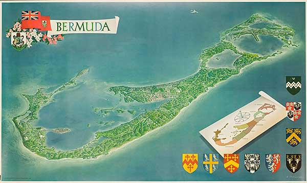 Bermuda Travel Poster Map
