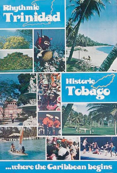 Trinidada and Tobago Original Travel Poster Rythmic Historic