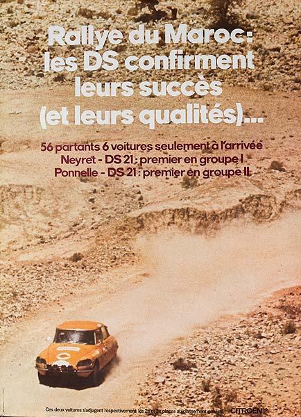Cirtoen Morocco Rally Original Vintage Poster