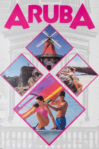Aruba Original Travel Poster photos