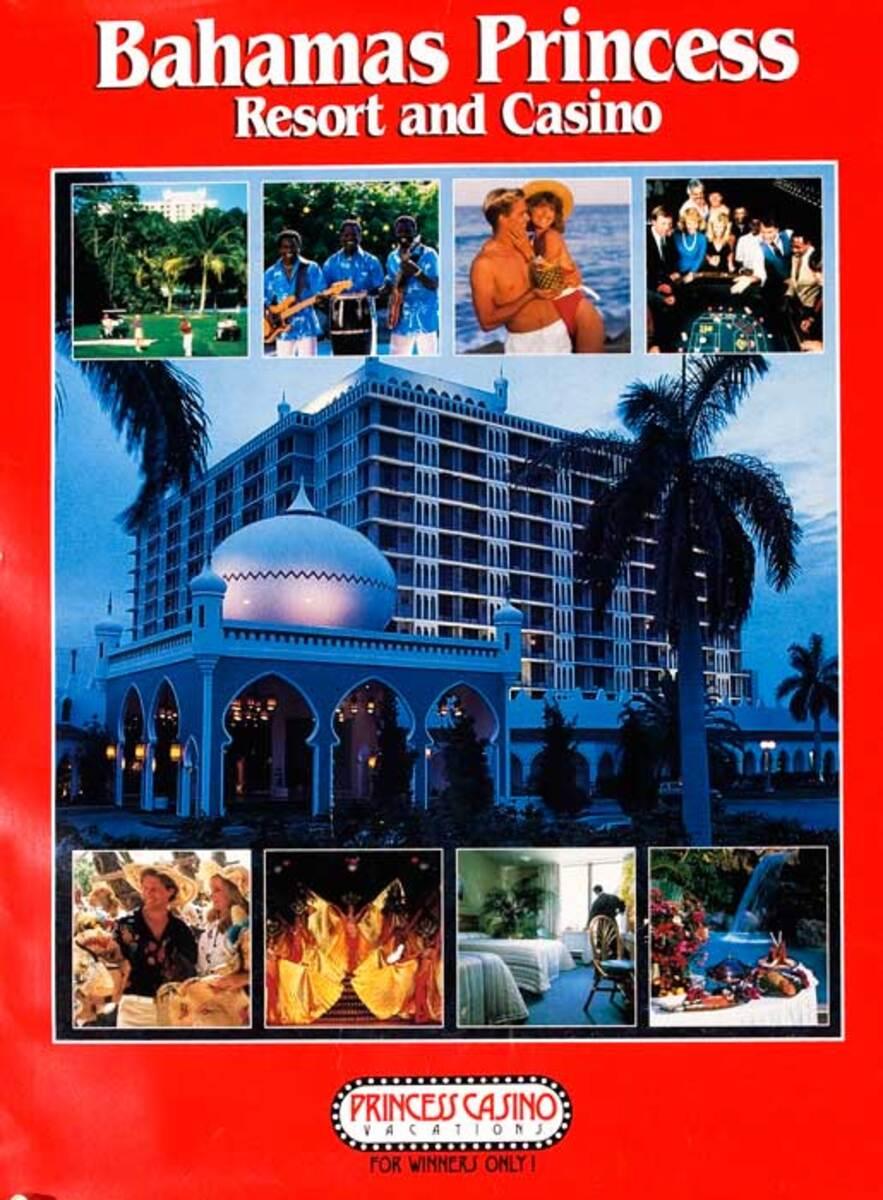 Bahama Princess Resort Original Travel Poster photo