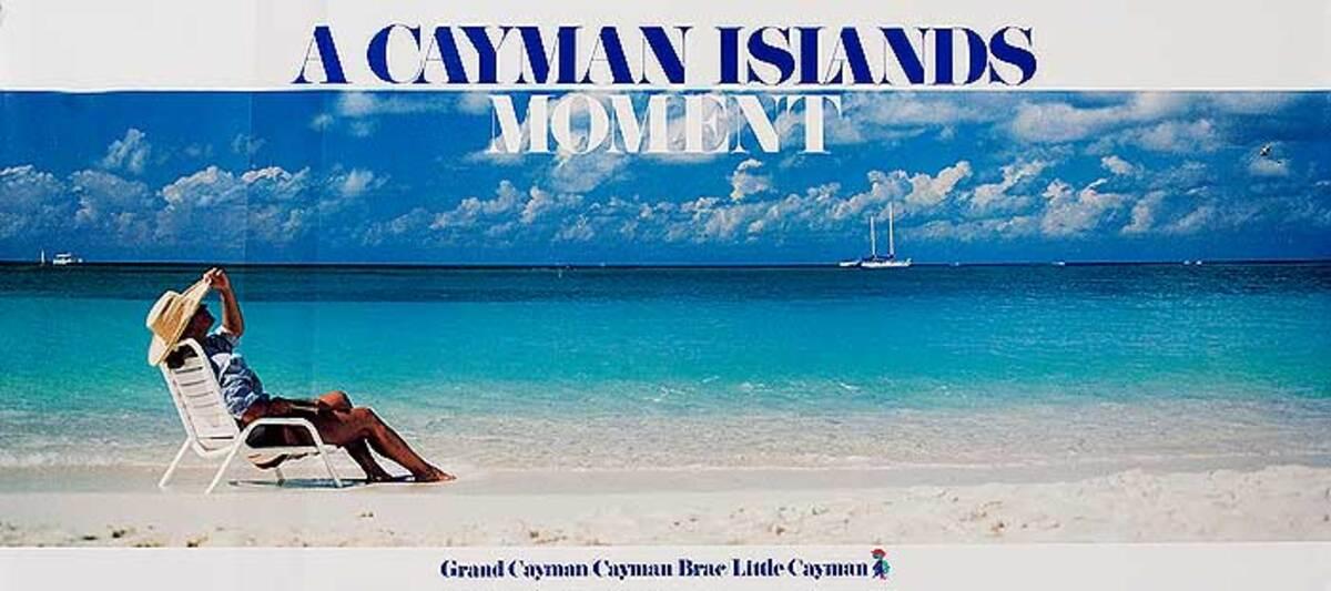 A Cayman Islands Moment Original Travel Poster