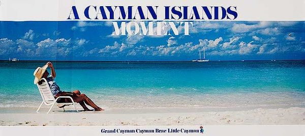 A Cayman Islands Moment Original Travel Poster