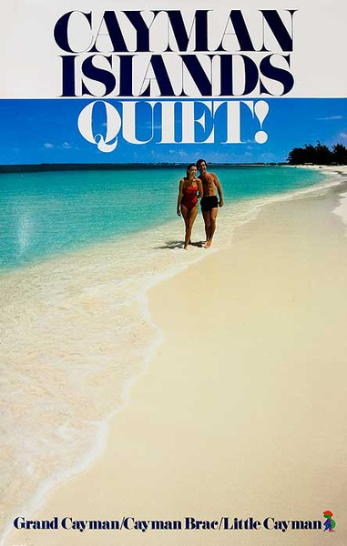 Cayman Islands Original Travel Poster Quiet!