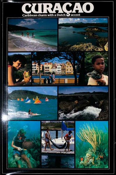 Curacao Original Travel Poster Charm With a Dutch Accent photos