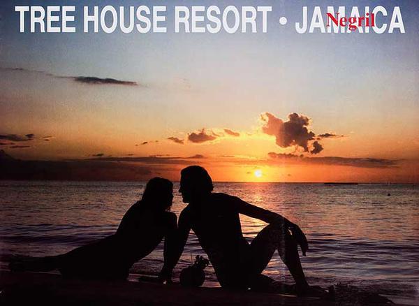 Tree House Resort Negril Jamaice Original Travel Poster