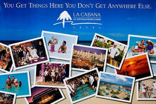 La Cabana Aruba Original Travel Poster