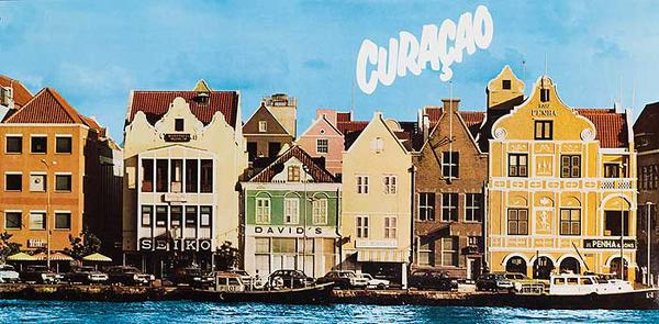 Curacao Original Travel Poster Dockside Photo